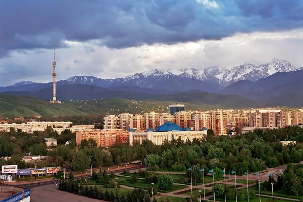 Almaty panoramic photo