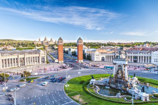 Барселона панорамное фото