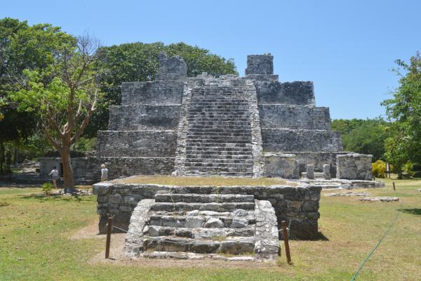 Ancient Mayan city of El Meko photo