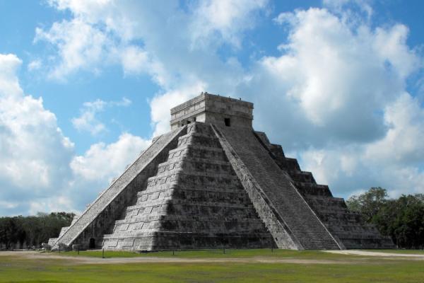 Foto de la antigua ciudad de Chichén Itzá