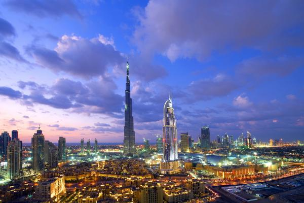 Дубай панорамное фото