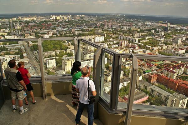 "The observation deck of the skyscraper ""Vysotsky"" photo"