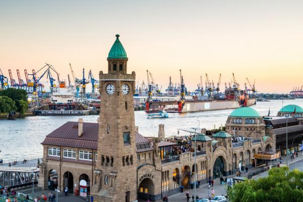 Гамбург панорамное фото