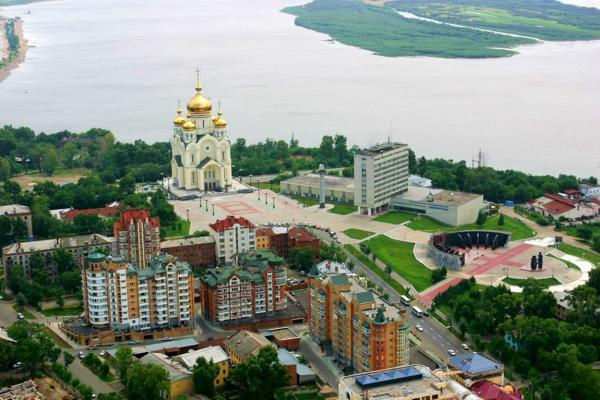 Khabarovsk panoramic photo