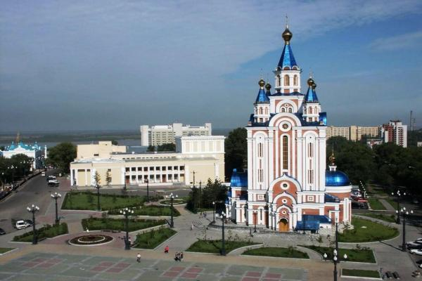 Grad Khabarovsk Cathedral of the Assumption of the Mother of God photo