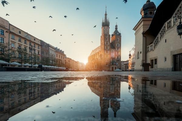 Foto panorámica de Cracovia