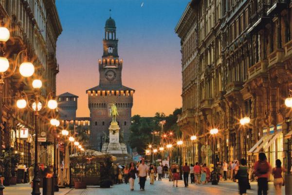 Milan panoramic photo