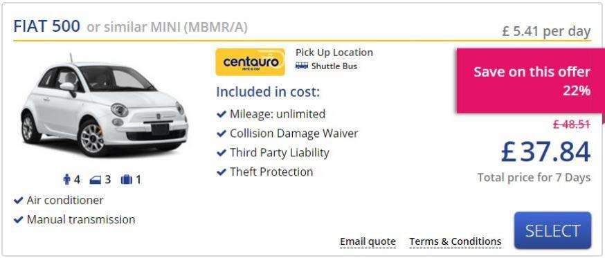 Rental Car Example