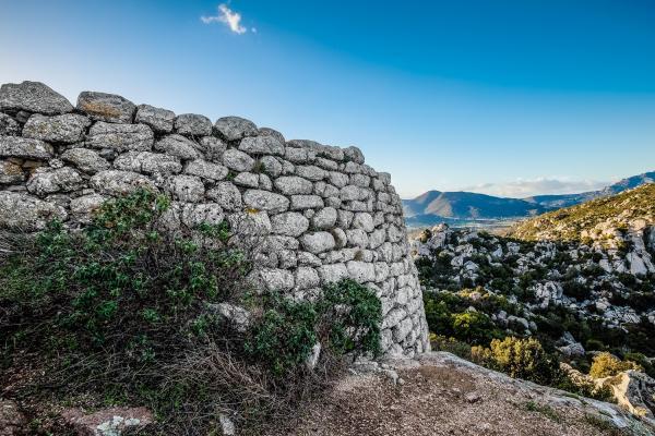 Nuragic complex Riu Mulinu on Mount Kabu Abbas photo