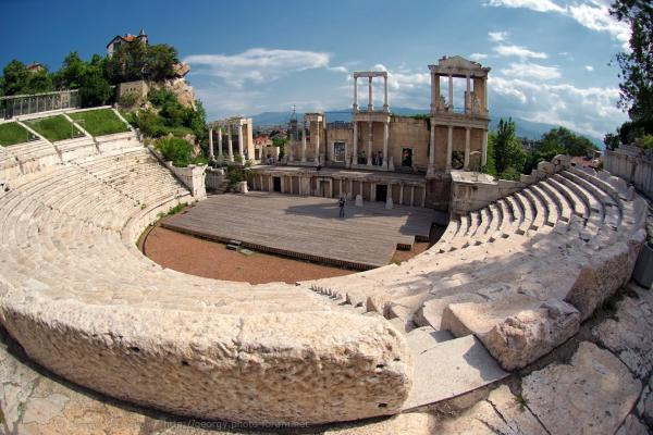 The ruins of the Roman theater photo