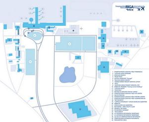 Riga International Airport Scheme