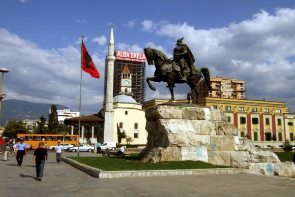 Skanderbeg Square in Tirana photo