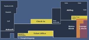 Схема аэропорта Берн-Бельп