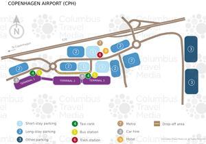 Copenhagen Kastrup Airport scheme