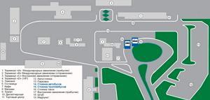 Simferopol Airport (Simferopol Airport) scheme