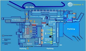 Международный аэропорт Каира (Cairo International Airport) схема