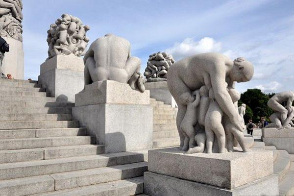 Foto del parque de esculturas de Vigeland