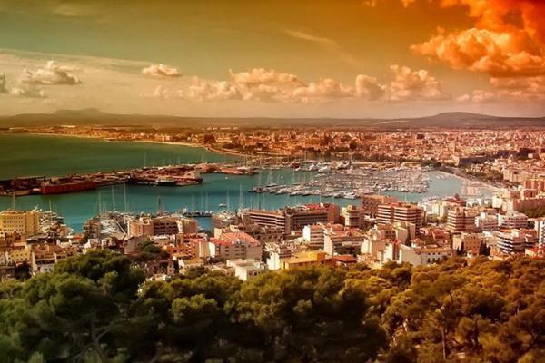 Palma de Mallorca panoramic photo