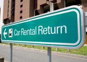Place of rental car rental