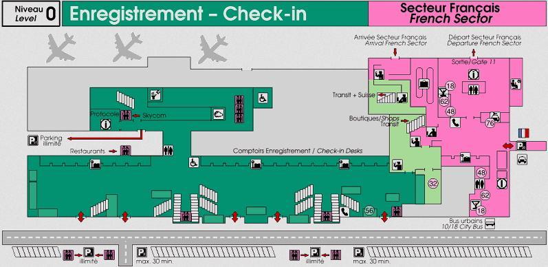 Схема аэропорта Женевы