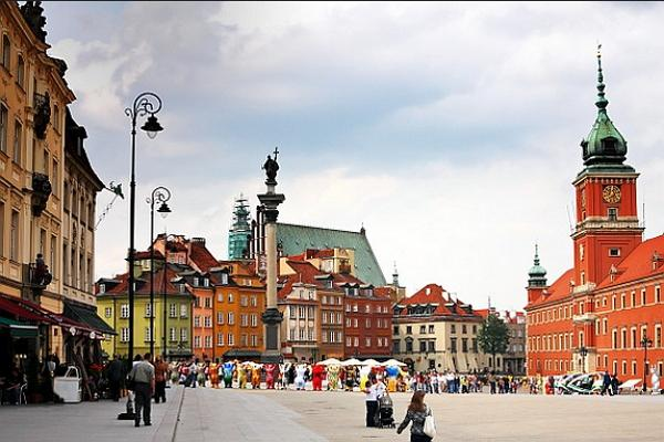 Warsaw panoramic photo