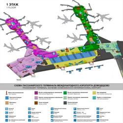 Domodedovo International Airport (Moscow Domodedovo Airport) scheme