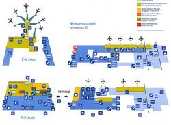 Vnukovo International Airport (Moscow Vnukovo Airport) scheme