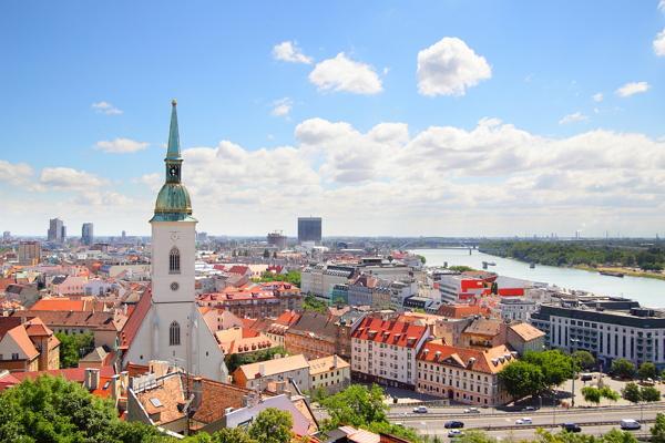 Bratislava panoramic photo