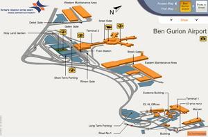 Международный аэропорт имени Бен-Гуриона (Ben Gurion Airport)схема